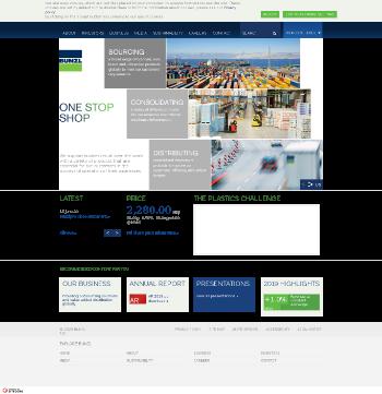 Bunzl plc Website Screenshot
