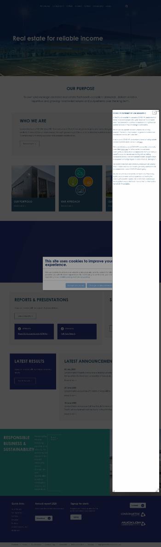 LondonMetric Property Plc Website Screenshot