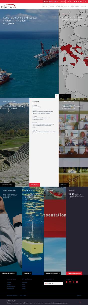 Energean plc Website Screenshot