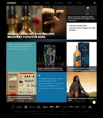 Diageo plc Website Screenshot