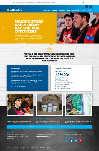 Greggs plc Website Screenshot
