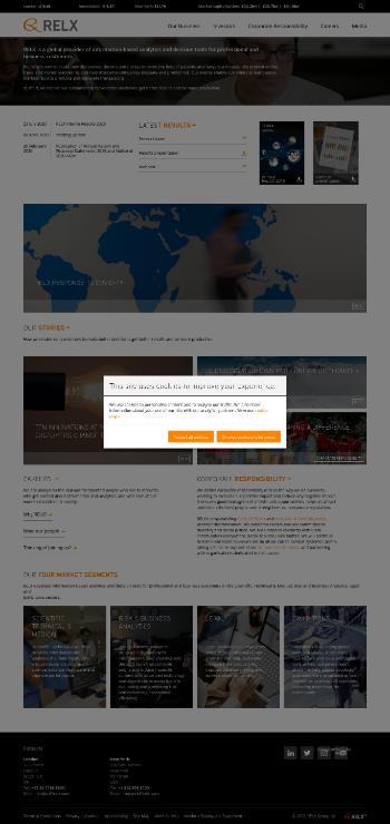 RELX PLC Website Screenshot