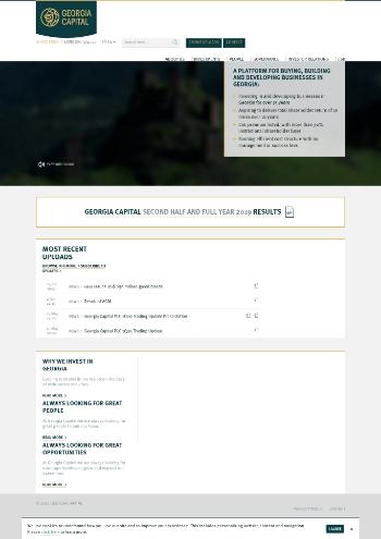 Georgia Capital PLC Website Screenshot