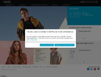 NEXT plc Website Screenshot