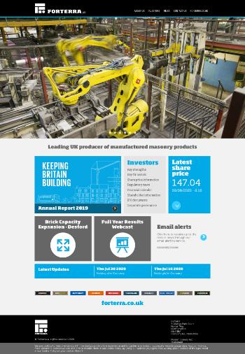 Forterra plc Website Screenshot