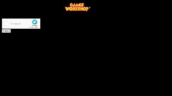 Games Workshop Group PLC Website Screenshot