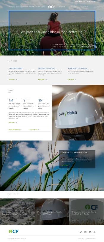 CF Industries Holdings, Inc. Website Screenshot