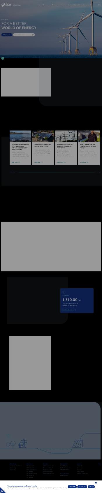 SSE plc Website Screenshot