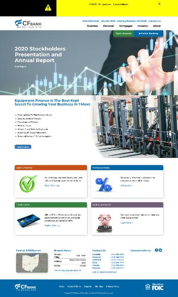Central Federal Corporation Website Screenshot
