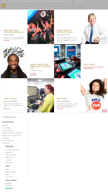 The Rank Group Plc Website Screenshot