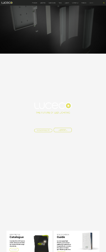 Luceco plc Website Screenshot