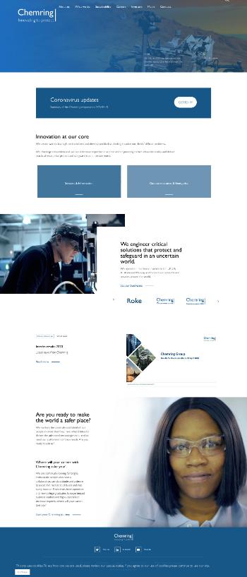 Chemring Group PLC Website Screenshot