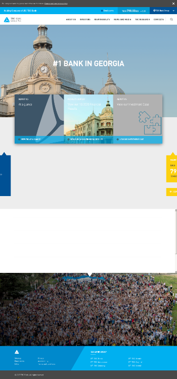 TBC Bank Group PLC Website Screenshot