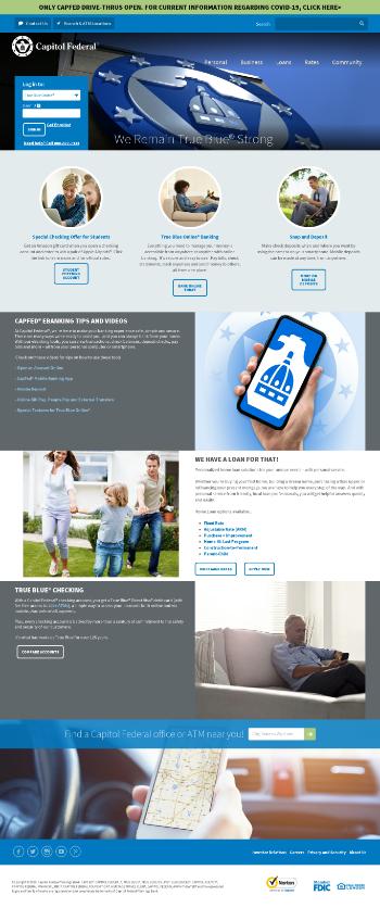 Capitol Federal Financial, Inc. Website Screenshot