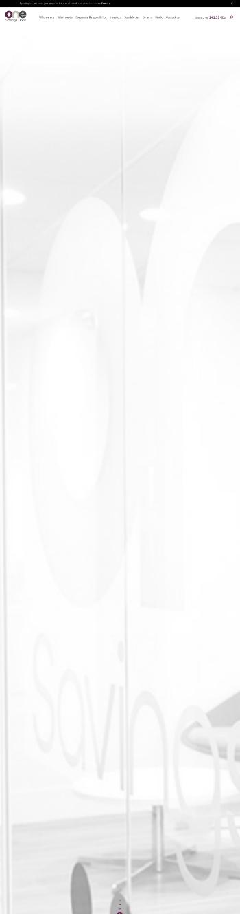 OneSavings Bank Plc Website Screenshot