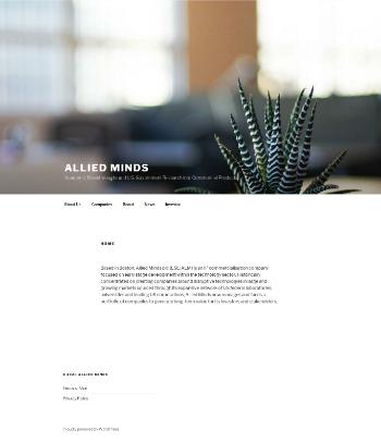 Allied Minds plc Website Screenshot