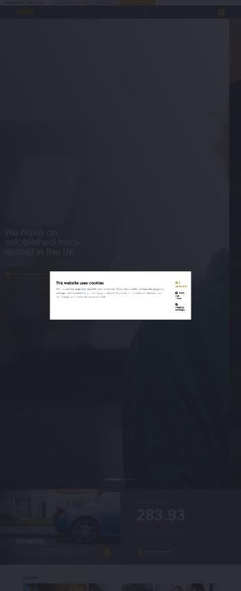 Sabre Insurance Group Plc Website Screenshot