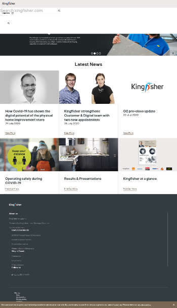 Kingfisher plc Website Screenshot