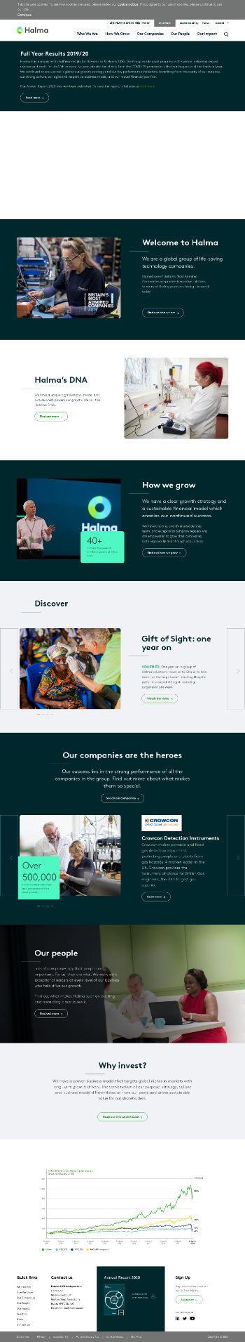 Halma plc Website Screenshot