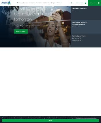 Standard Chartered PLC Website Screenshot