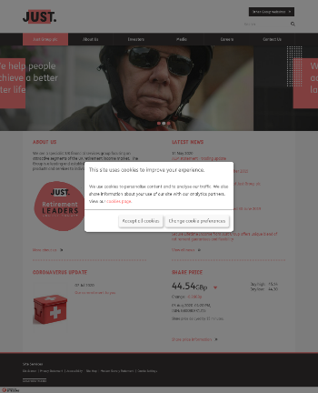 Just Group plc Website Screenshot