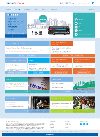 National Express Group PLC Website Screenshot