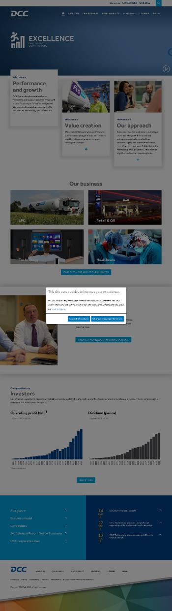 DCC plc Website Screenshot