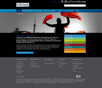 Ashmore Group PLC Website Screenshot