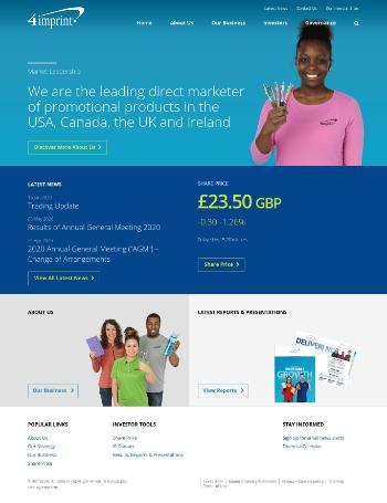 4imprint Group plc Website Screenshot