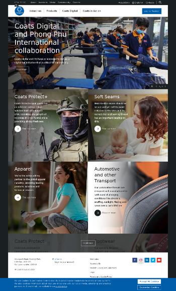 Coats Group plc Website Screenshot