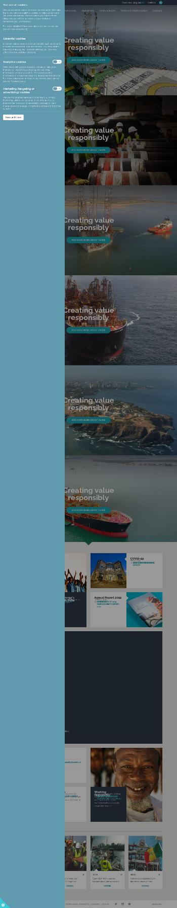 Cairn Energy PLC Website Screenshot