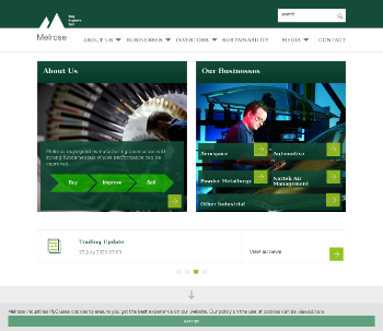 Melrose Industries PLC Website Screenshot