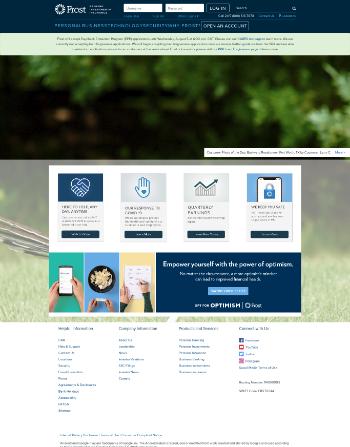 Cullen/Frost Bankers, Inc. Website Screenshot