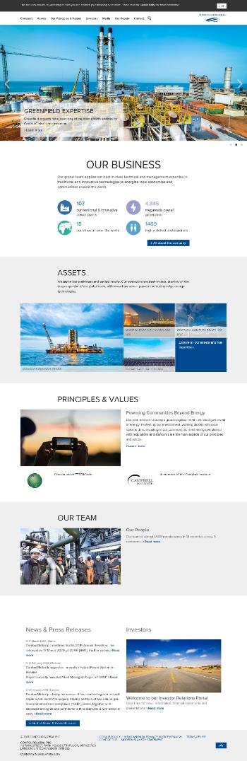 ContourGlobal plc Website Screenshot