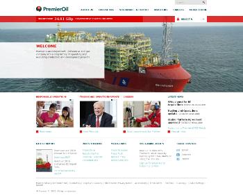 Premier Oil plc Website Screenshot