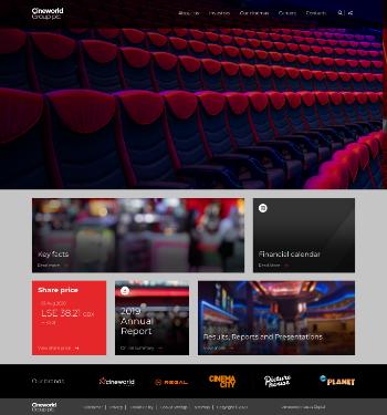 Cineworld Group plc Website Screenshot