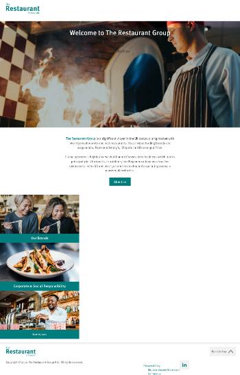 The Restaurant Group plc Website Screenshot