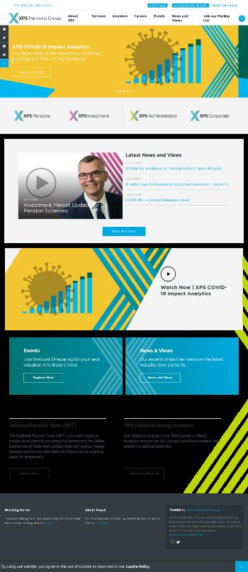 XPS Pensions Group plc Website Screenshot