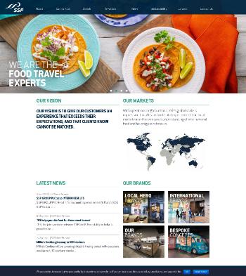 SSP Group plc Website Screenshot