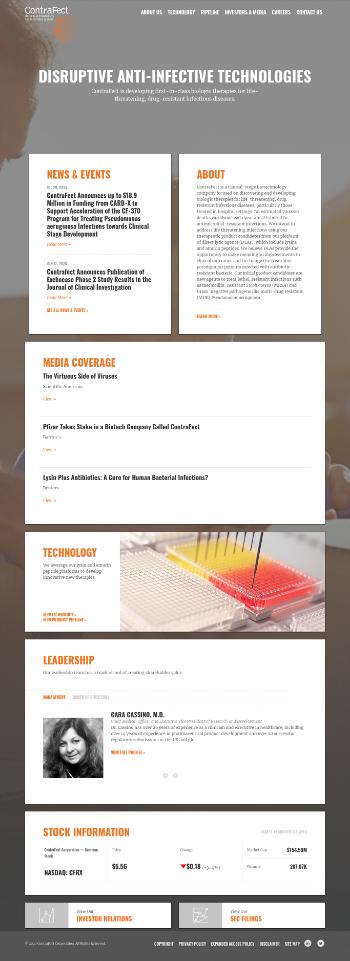 ContraFect Corporation Website Screenshot