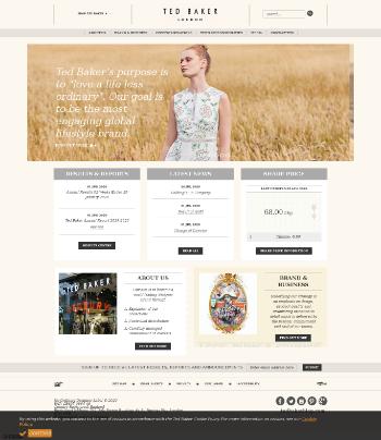 Ted Baker Plc Website Screenshot