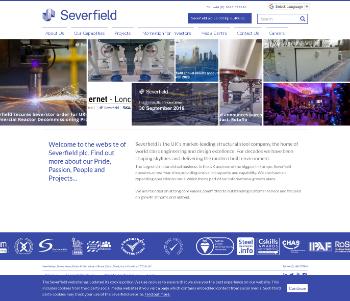 Severfield plc Website Screenshot