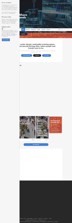 Hammerson plc Website Screenshot