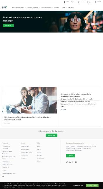 SDL plc Website Screenshot