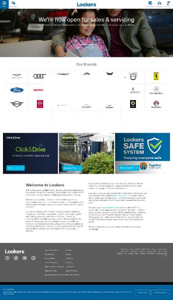 Lookers plc Website Screenshot