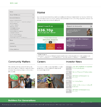 MJ Gleeson plc Website Screenshot
