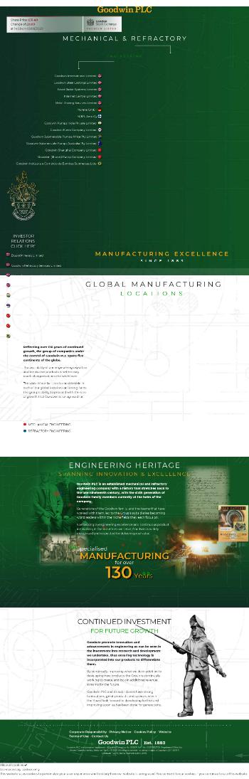 Goodwin PLC Website Screenshot
