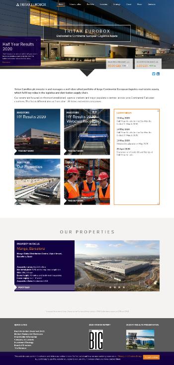 Tritax EuroBox plc Website Screenshot