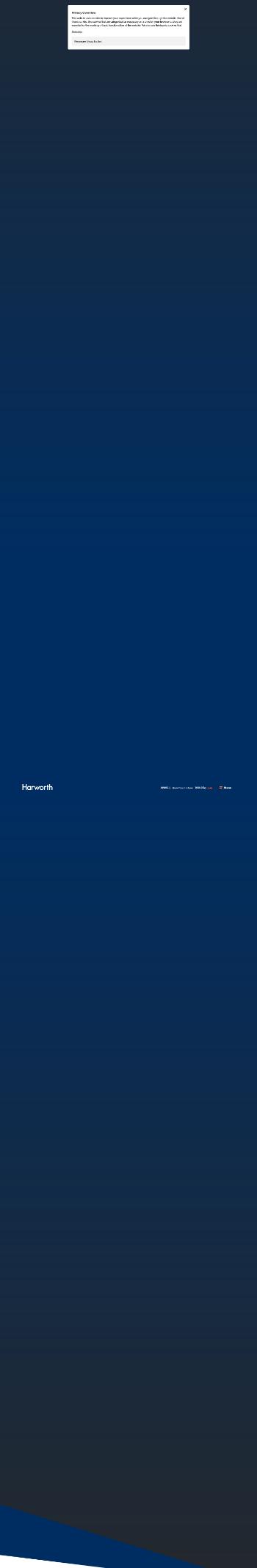 Harworth Group plc Website Screenshot
