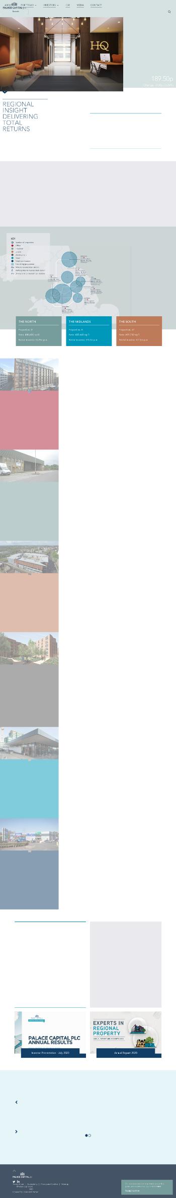 Palace Capital Plc Website Screenshot